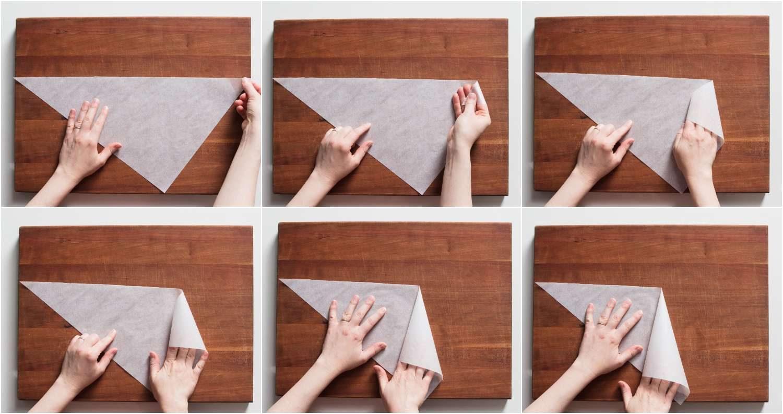 Como fazer Cone de papel Manteiga