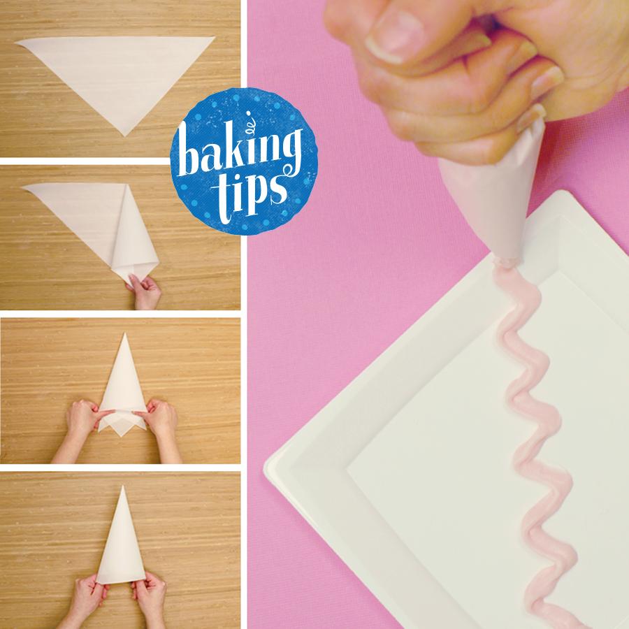 Como fazer Cone de papel Manteiga para confeitar