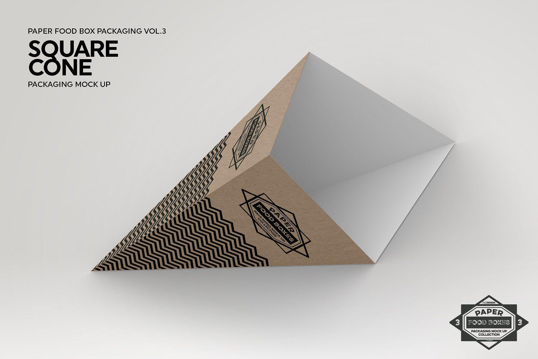 Como fazer Cone de papel Quadrado