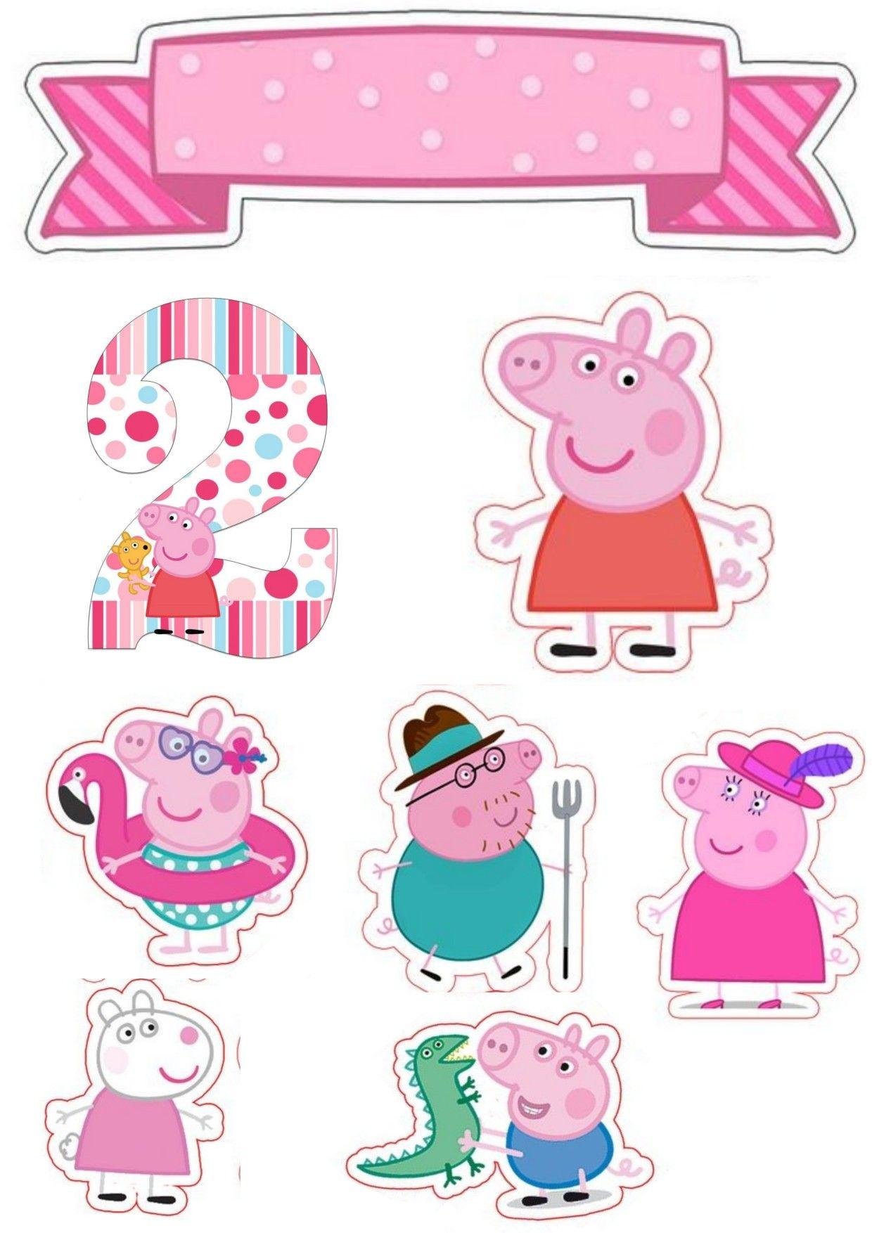 Topper para docinhos Peppa Pig