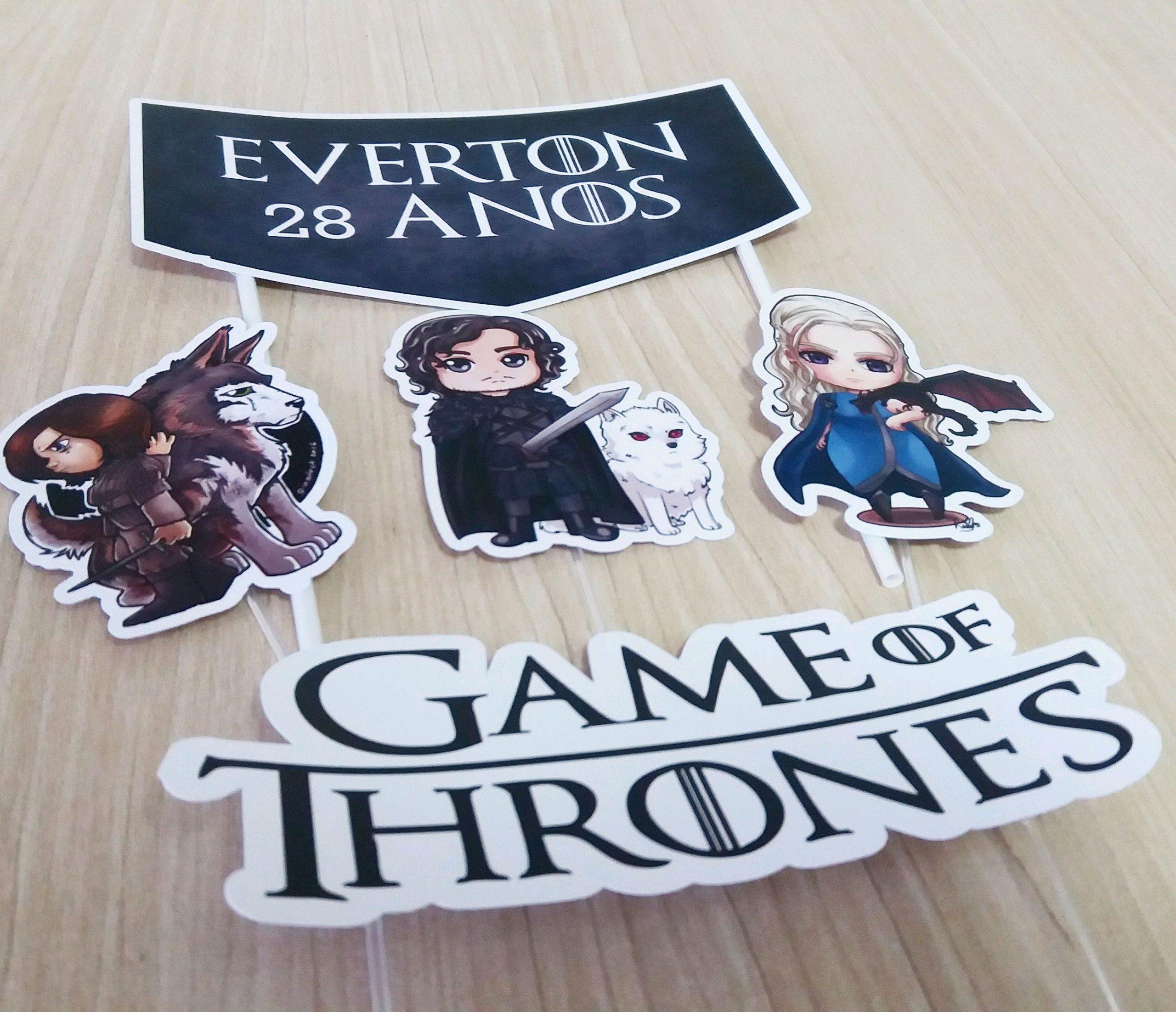 Bolo Game Of Thrones Topo para imprimirBolo Game Of Thrones Topo para imprimir