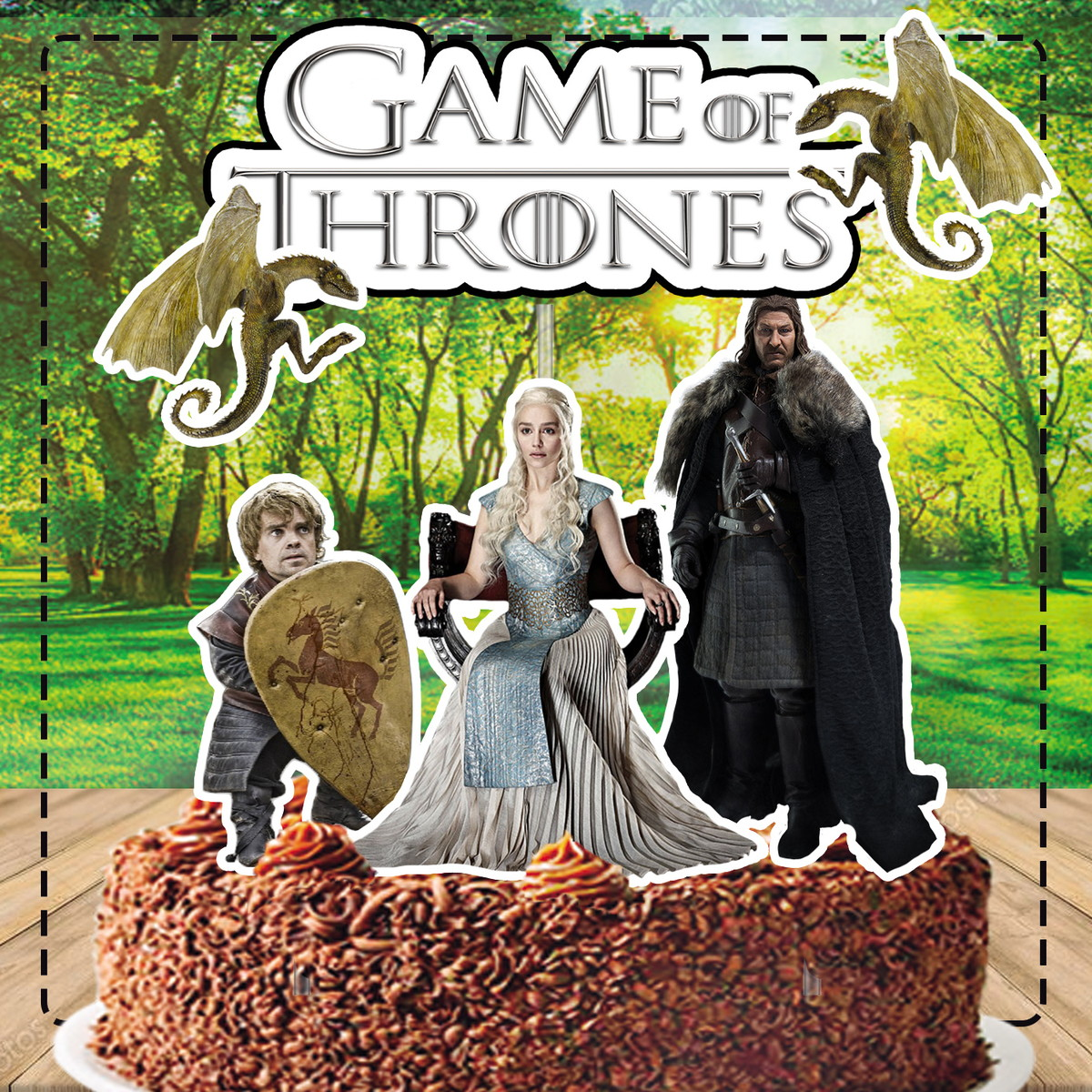 Bolo Game Of Thrones TemaBolo Game Of Thrones Tema