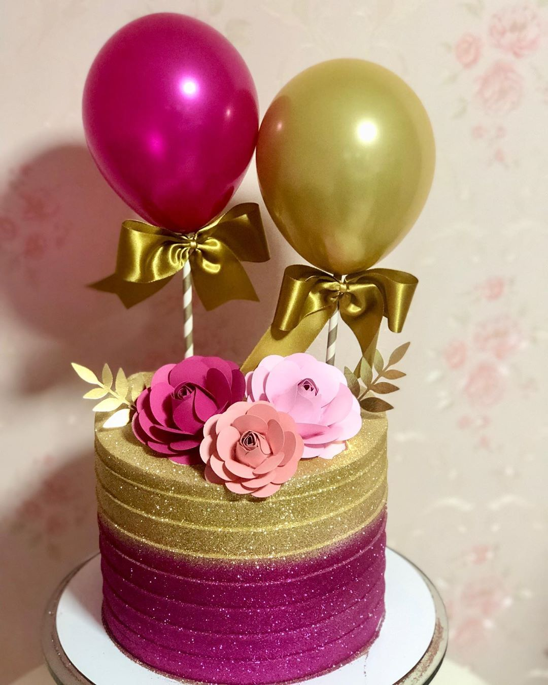 Bolo Glow Cake Rosa