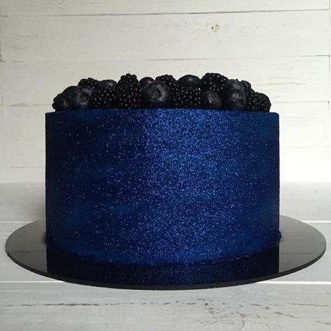 Bolo Glow Cake Azul