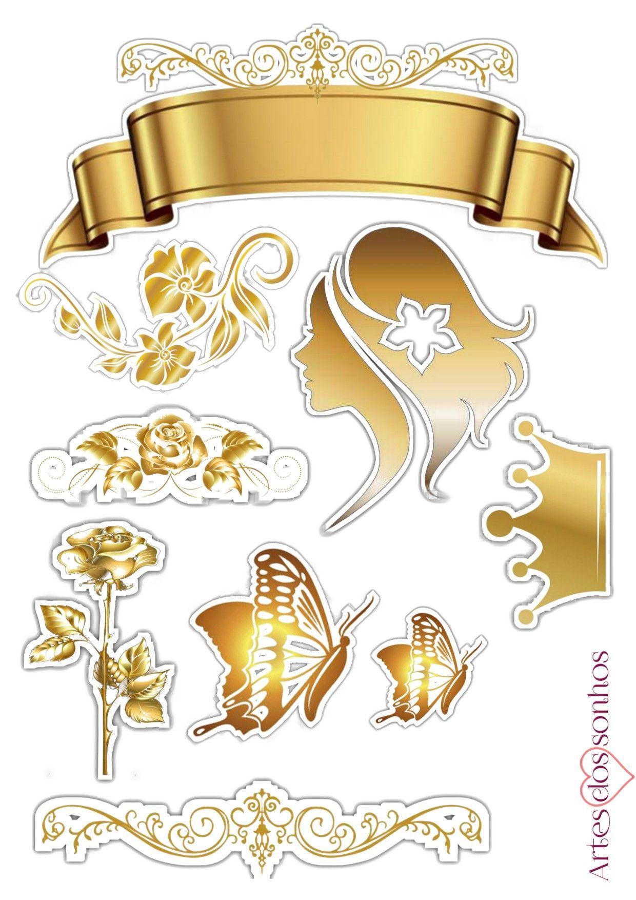 Topper Feminino Dourado