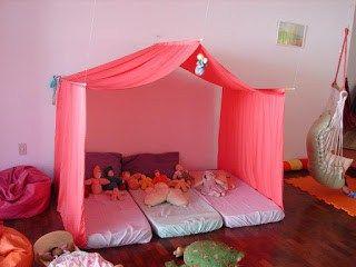 Cabana para festa do pijama Como montar