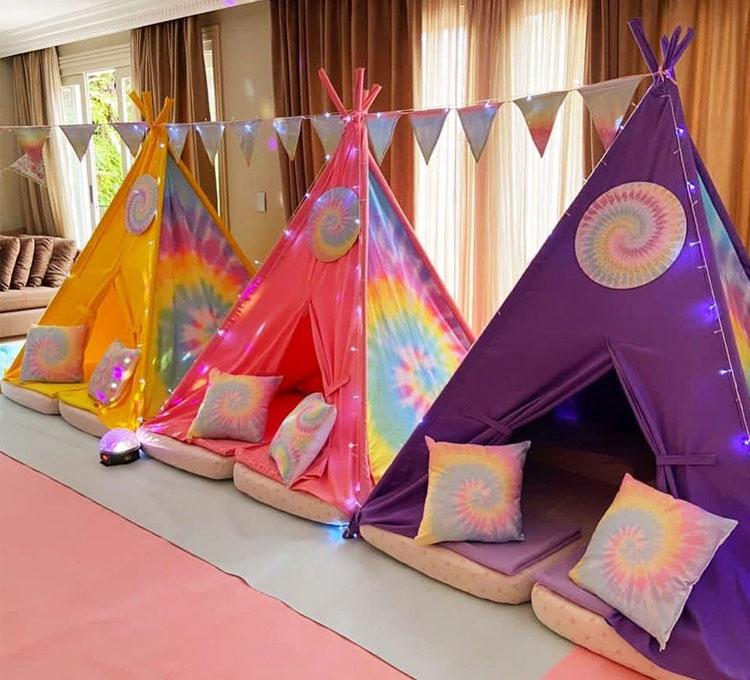 Cabana para festa do pijama Ideias