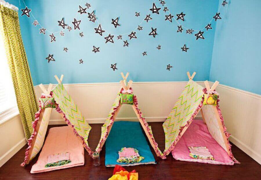 Cabana para festa do pijama Simples