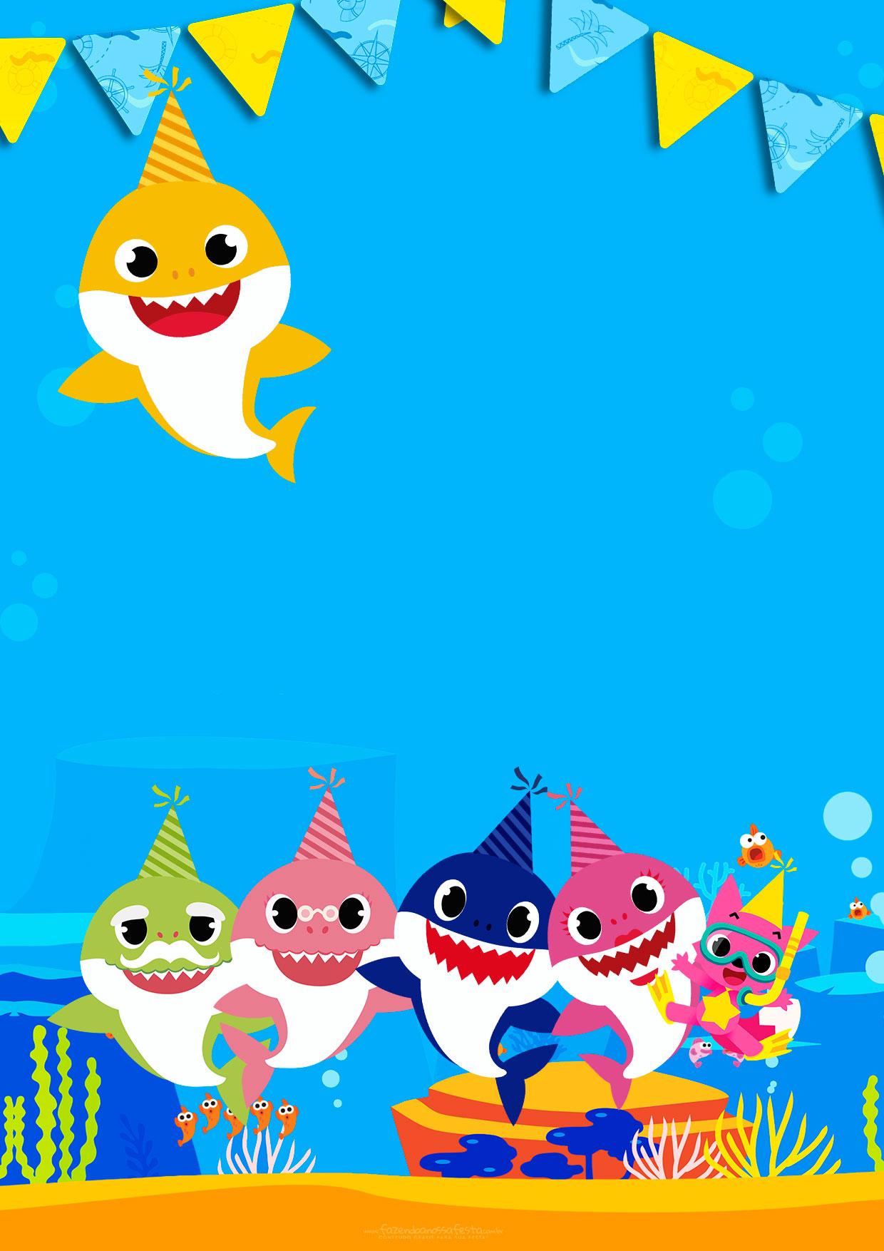 Convite Animado Baby Shark
