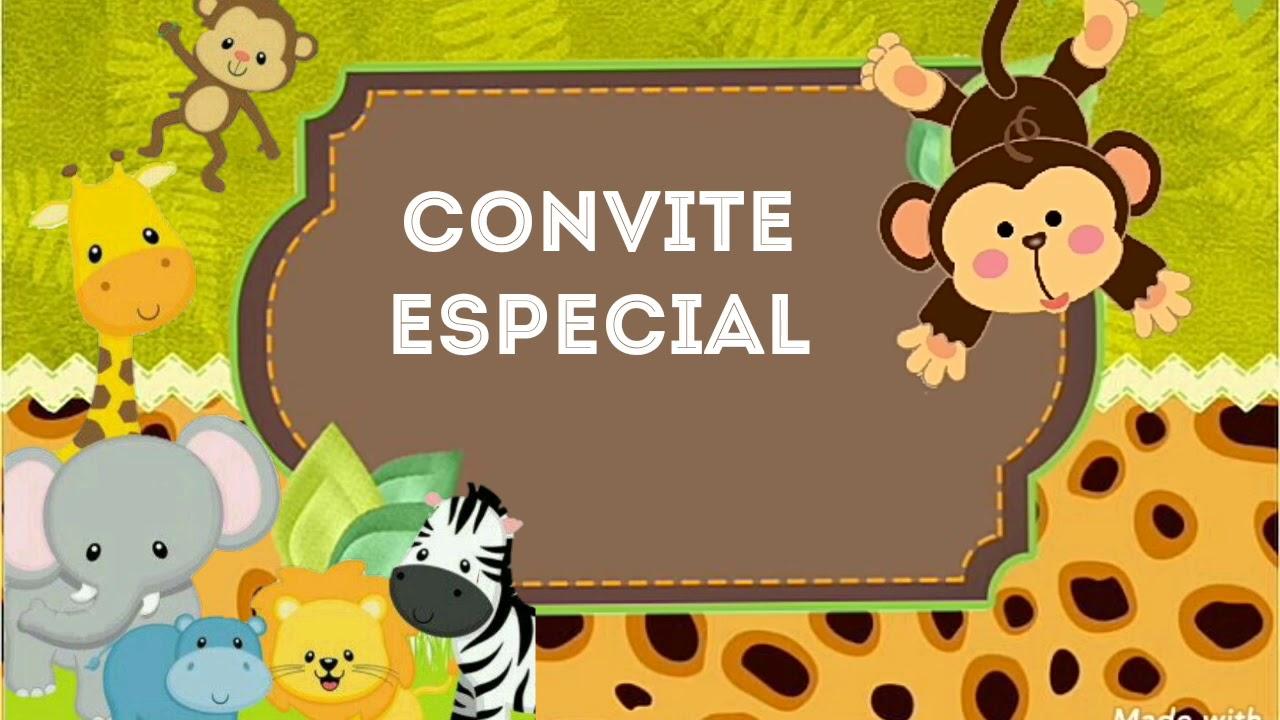 Convite Animado Editável