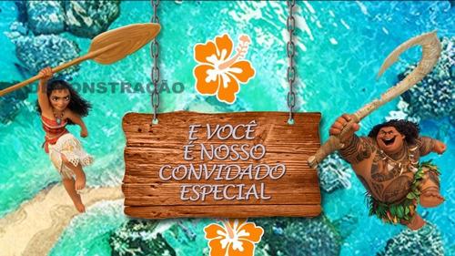 Convite Animado Moana