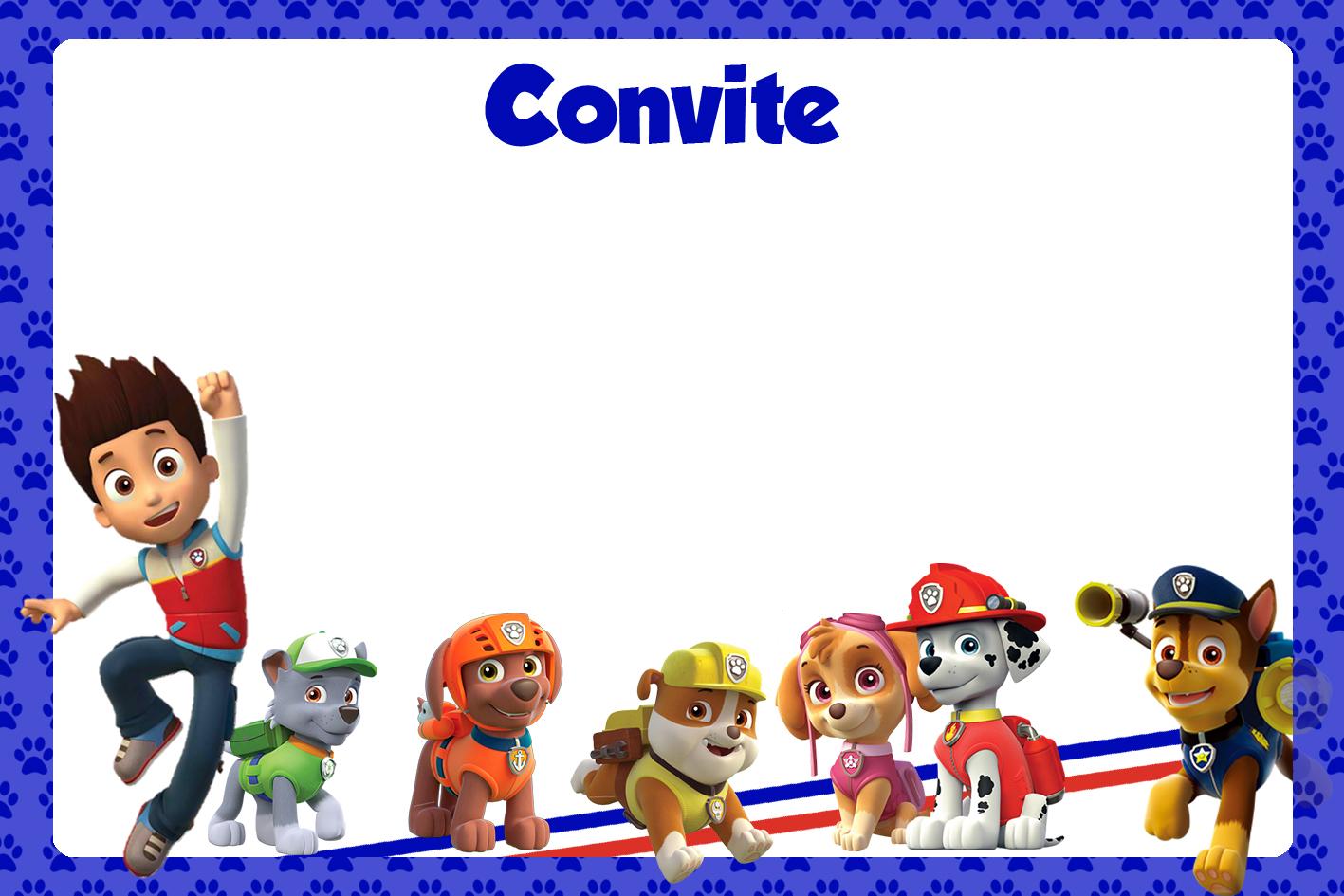 Convite Animado Patrulha Canina