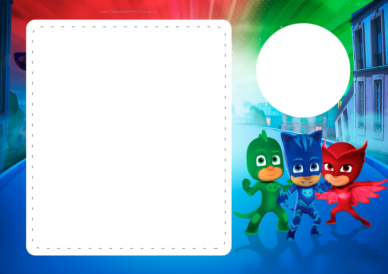 Convite Animado PJ Masks