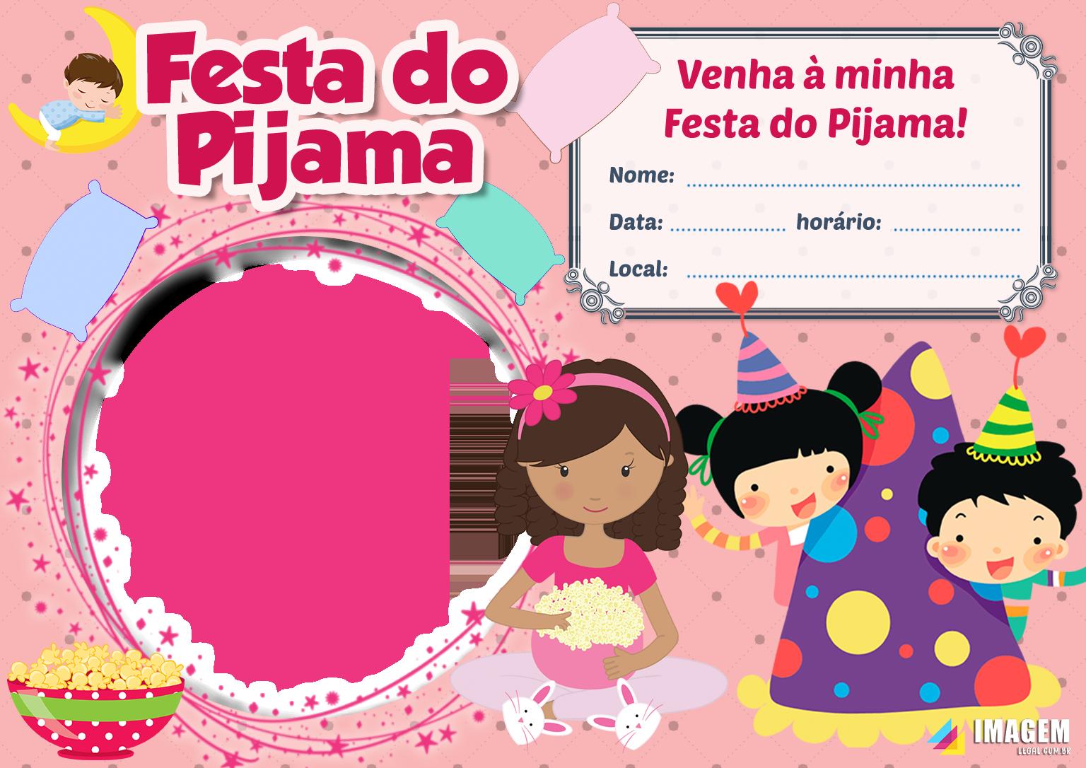 Convite de festa do pijama De aniversário