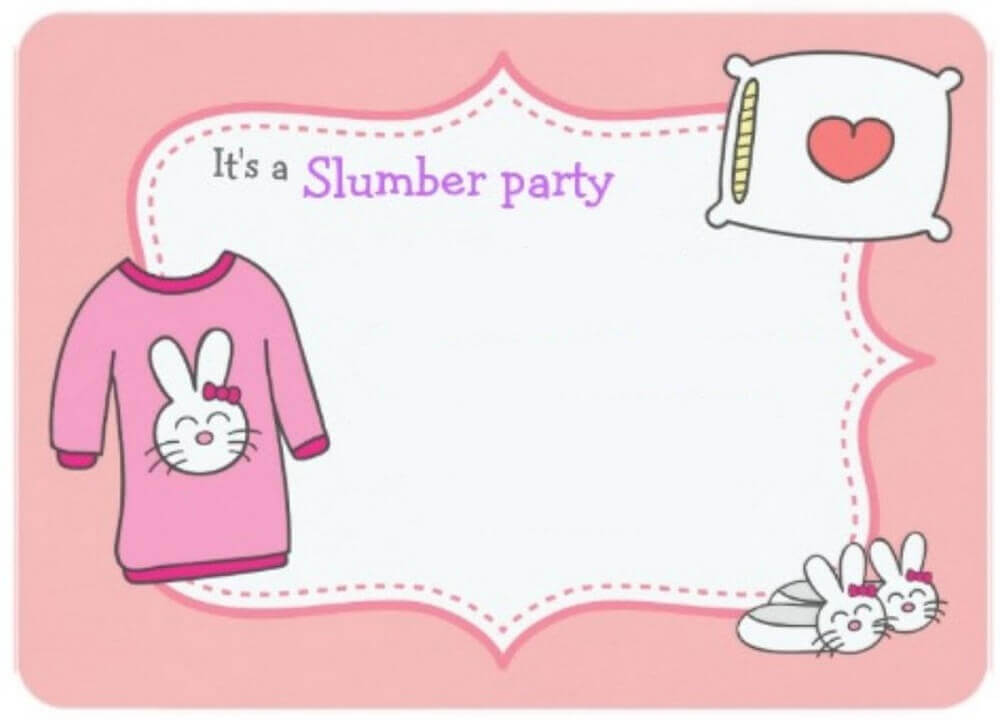 Convite de festa do pijama Digital