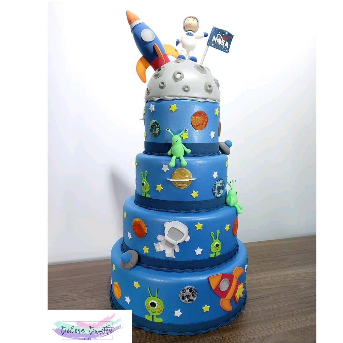 Festa astronauta Bolo