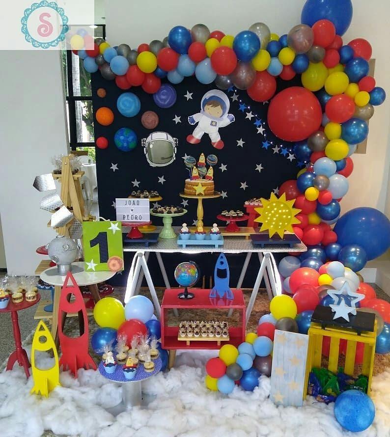 Festa astronauta Decoração