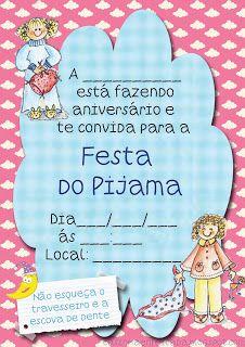 Festa do Pijama Convite