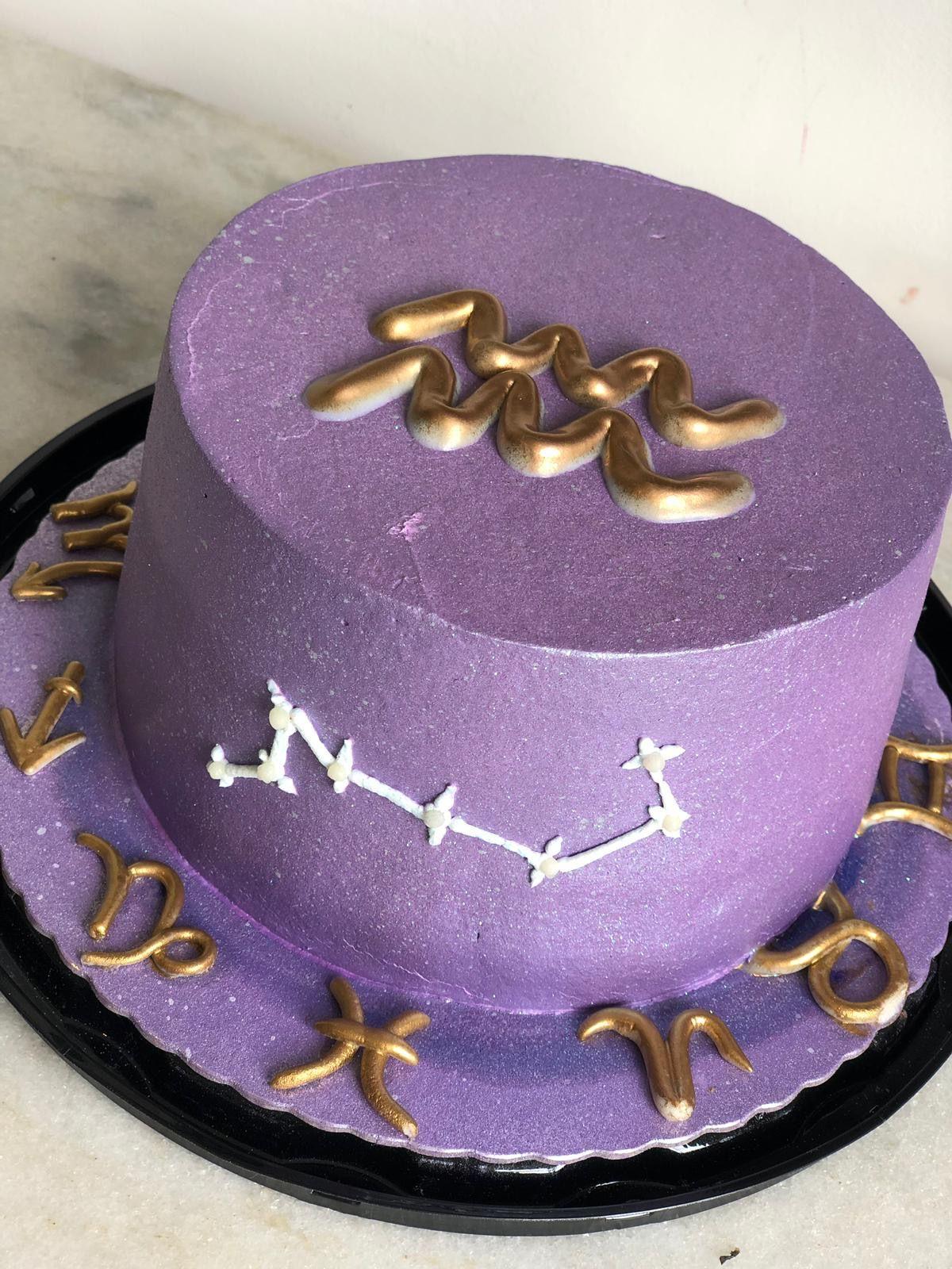 bolo do signo De Aquário