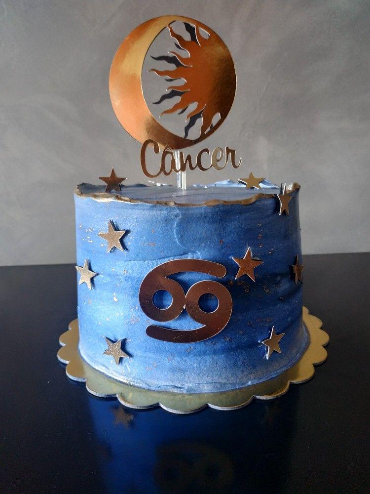 bolo do signo De Câncer