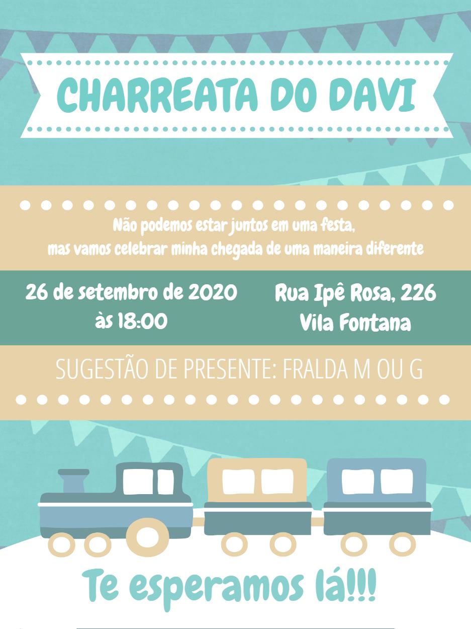 Convite charreata Simples