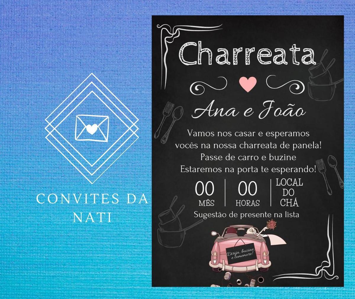 Convite charreata De panela