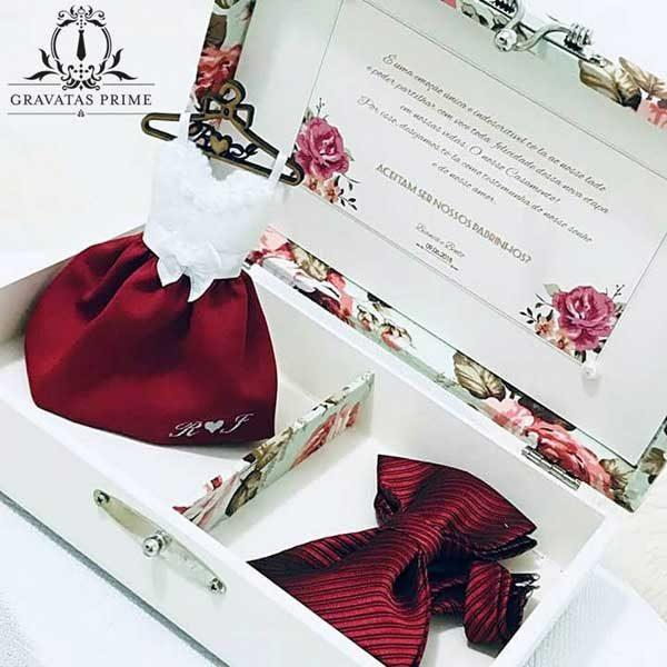 Convite para madrinha de casamento Caixa convite
